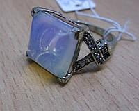 """Кольцо с опалитом лунным камнем """"Квадро"""", размер 19,18 от Студии LadyStyle.Biz"""