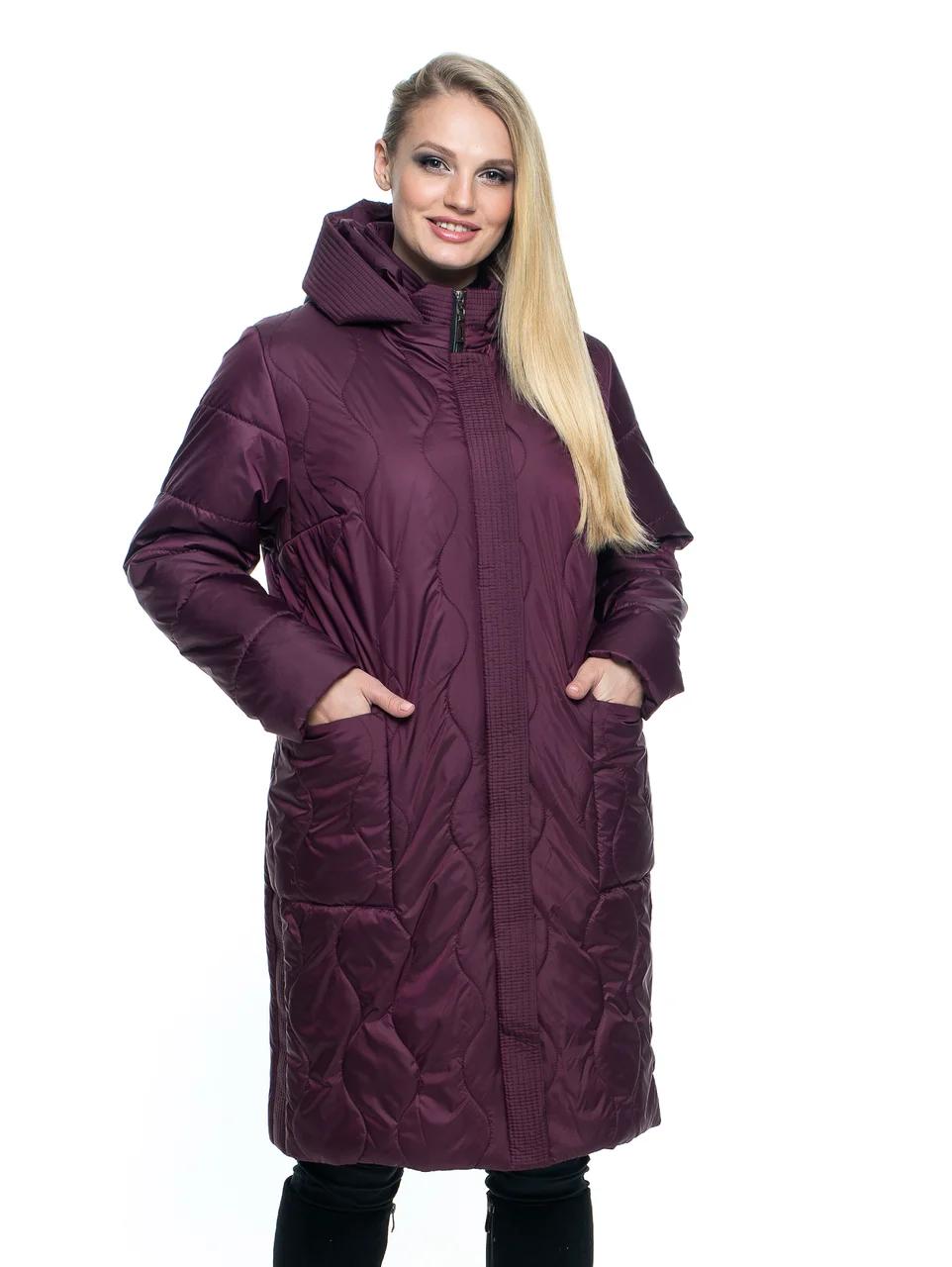 Куртки батал жіночі весна-осінь 52-70 марсал