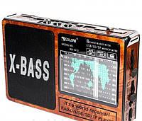 Радиоприемник GOLON RX-1413 портативная акустика со встроенным аккумулятором USB LED-фонарь, фото 1