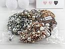 Резинки для волос текстиль Ø 8 см с жемчугом 12 шт/уп., фото 2