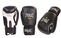 Перчатки для бокса и единоборств на липучке Everlast 0033 черный-белый 6 унций