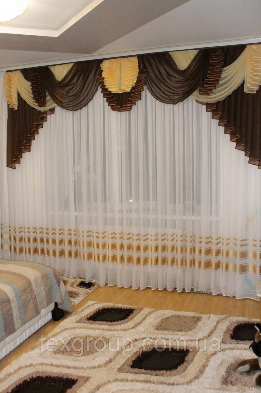 Ламбрекен шифоновый №177 3м зал спальня