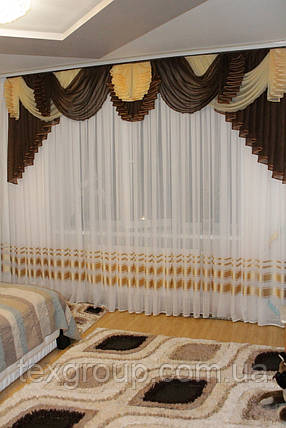 Ламбрекен шифоновый №177 3м зал спальня, фото 2