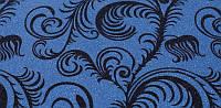 Бисерное покрытие, черно-голубой узор, 274х80 см (BRF-1 10с)