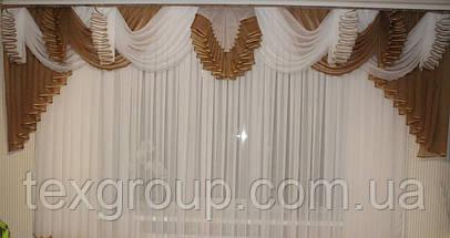 Ламбрекен шифоновый №177 3м зал спальня, фото 3