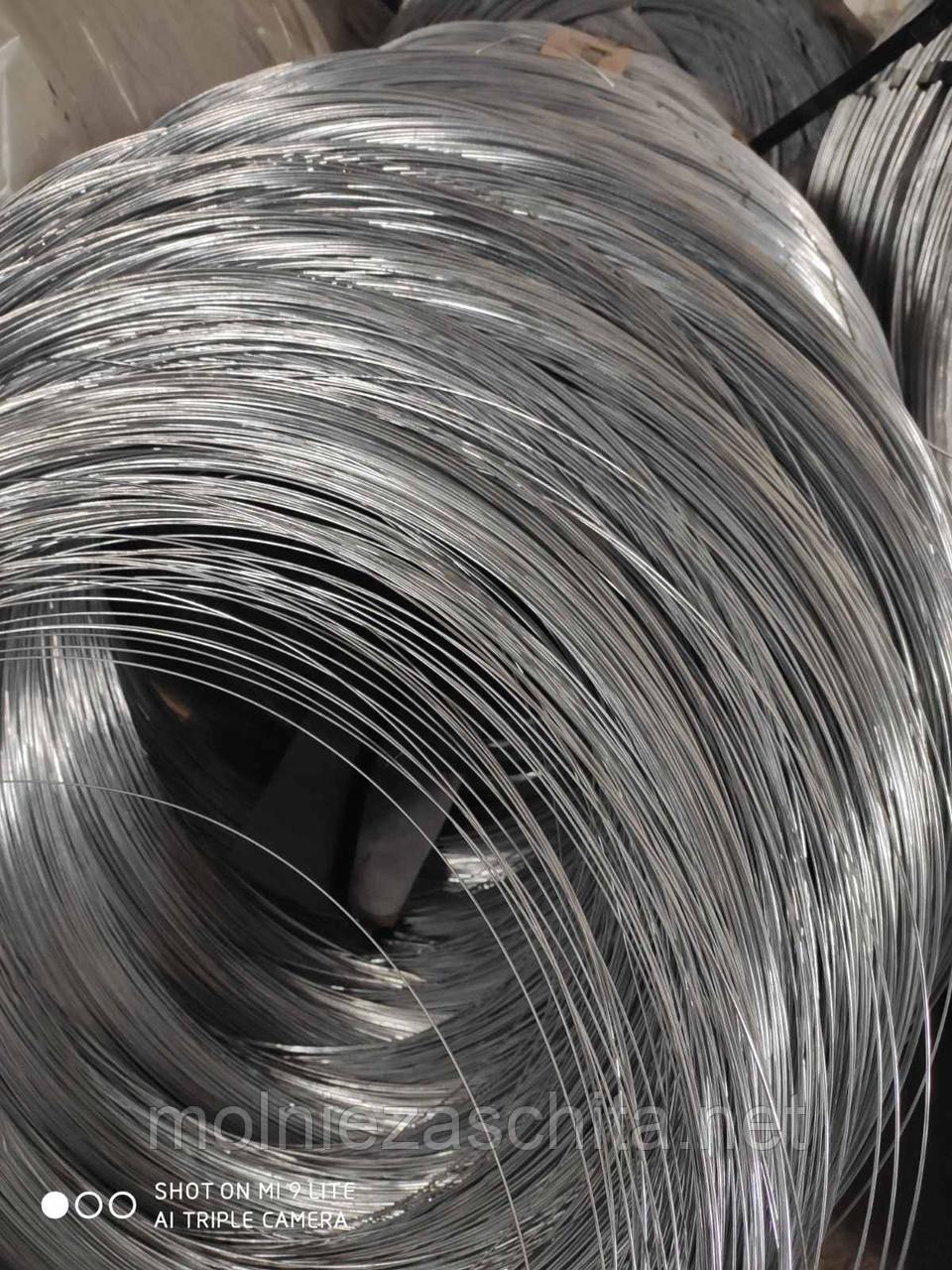 Проволока ф1,8мм термически необработанная (твердая) оцинкованная