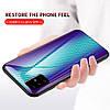 Чехол накладка для Samsung Galaxy A51 A515 с зеркальной поверхностью, Карбон, Голубой, фото 3