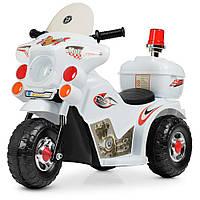 Детский мотоцикл на аккумуляторе M 4251-1 белый