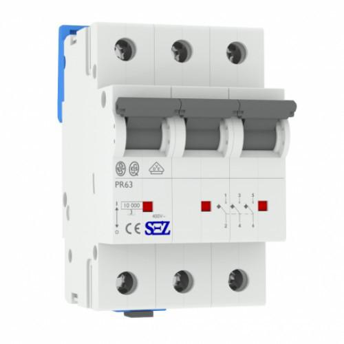 Автоматический выключатель SEZ PR 63 3п 3A D 10 кА