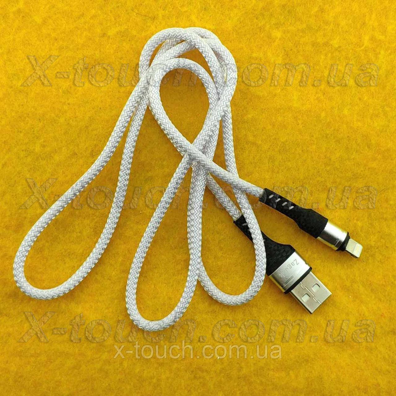 Нейлоновый кабель USB – Lightning 1м, белый