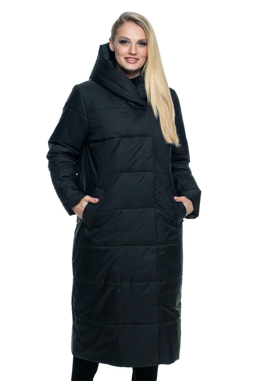 Парка женская куртка демисезонная  больших размеров  46-56 черный