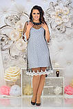 Женкое елегантне ошатне плаття (сітка синя,чорна) от48 до 54р, фото 3