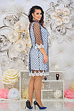 Женкое елегантне ошатне плаття (сітка синя,чорна) от48 до 54р, фото 5