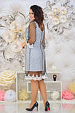 Женкое елегантне ошатне плаття (сітка синя,чорна) от48 до 54р, фото 7