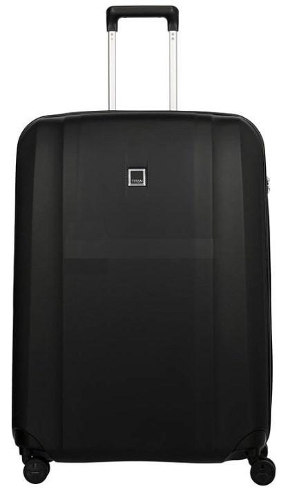 Пластиковый чемодан Titan Xenon 19 М 4 колеса на 76 л черный