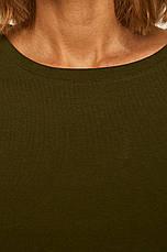 Футболка женская бейсик оливковая, фото 3