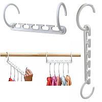 Органайзер для вешалок Wonder Hanger (8 шт./уп.) Чудо вешалка для экономии места в шкафу для одежды, фото 1