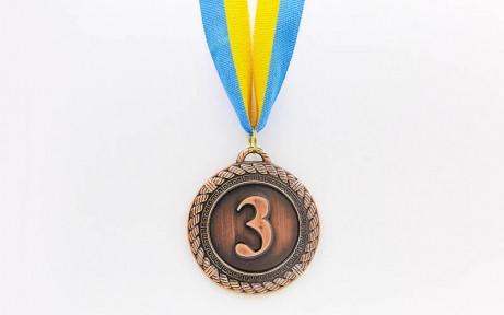Медаль спорт d-6,5см С-6860-3 бронза GREEK  (металл, d-6,5см, 38g)