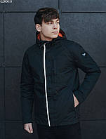 Весенняя черная мужская куртка с утеплителем Холософт Staff black magnet GZR0031