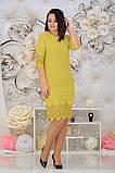 Нарядное женское платье с лазерной резкой по ткани 48-54р. (2расцв), фото 6