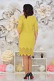 Нарядное женское платье с лазерной резкой по ткани 48-54р. (2расцв), фото 9