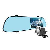 """Зеркало видеорегистратор 5"""" Car Anytek T22 угол обзора 150° с камерой заднего вида G-сенсор карта памяти"""