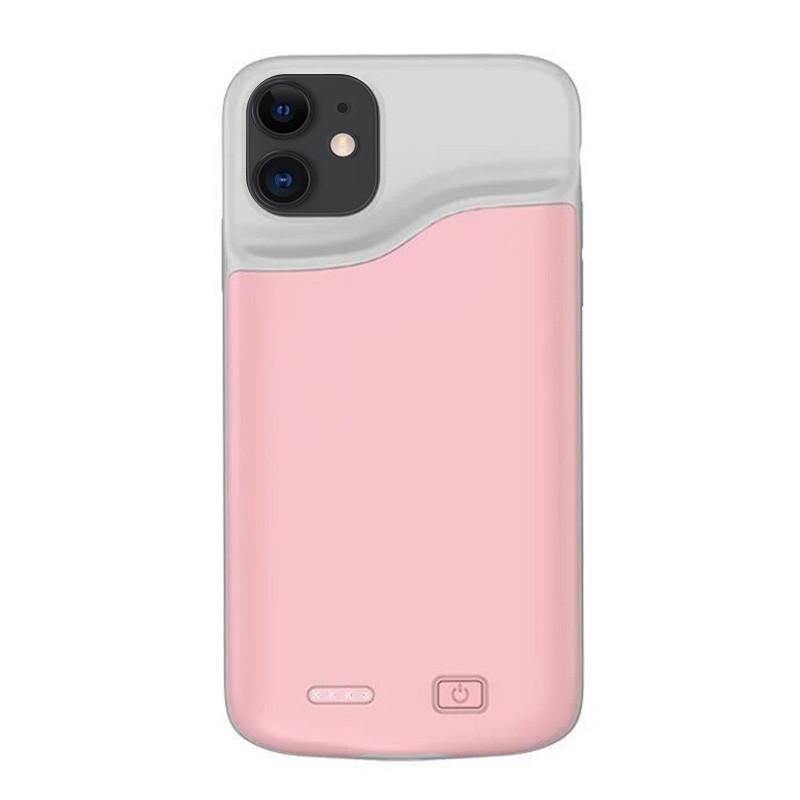 Чехол аккумулятор AmaCase для iPhone 11  Розовый (6000 мАч)
