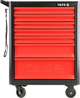 Инструментальная тележка Yato для инструмента на СТО с 7 выдвижными ящиками