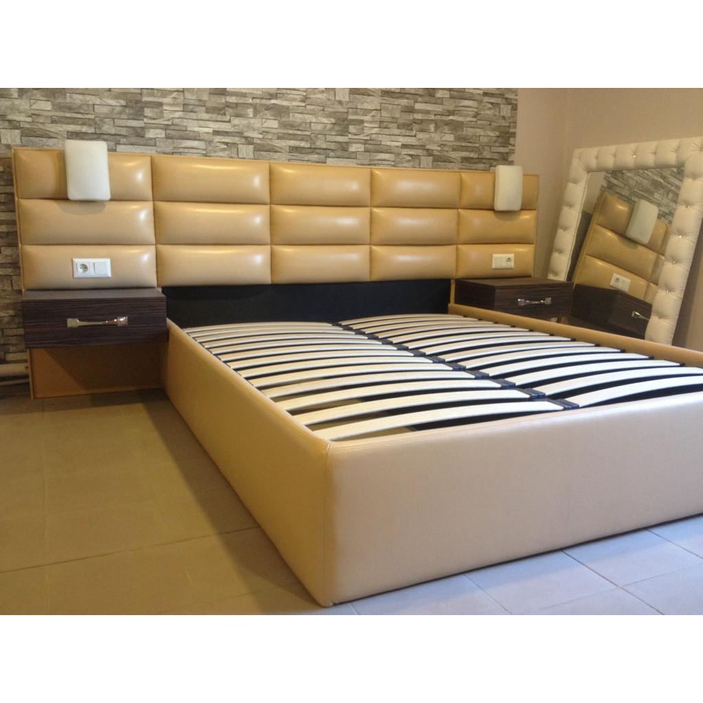 двуспальная кровать Modern 160200 с подъемным механизмом ящиком