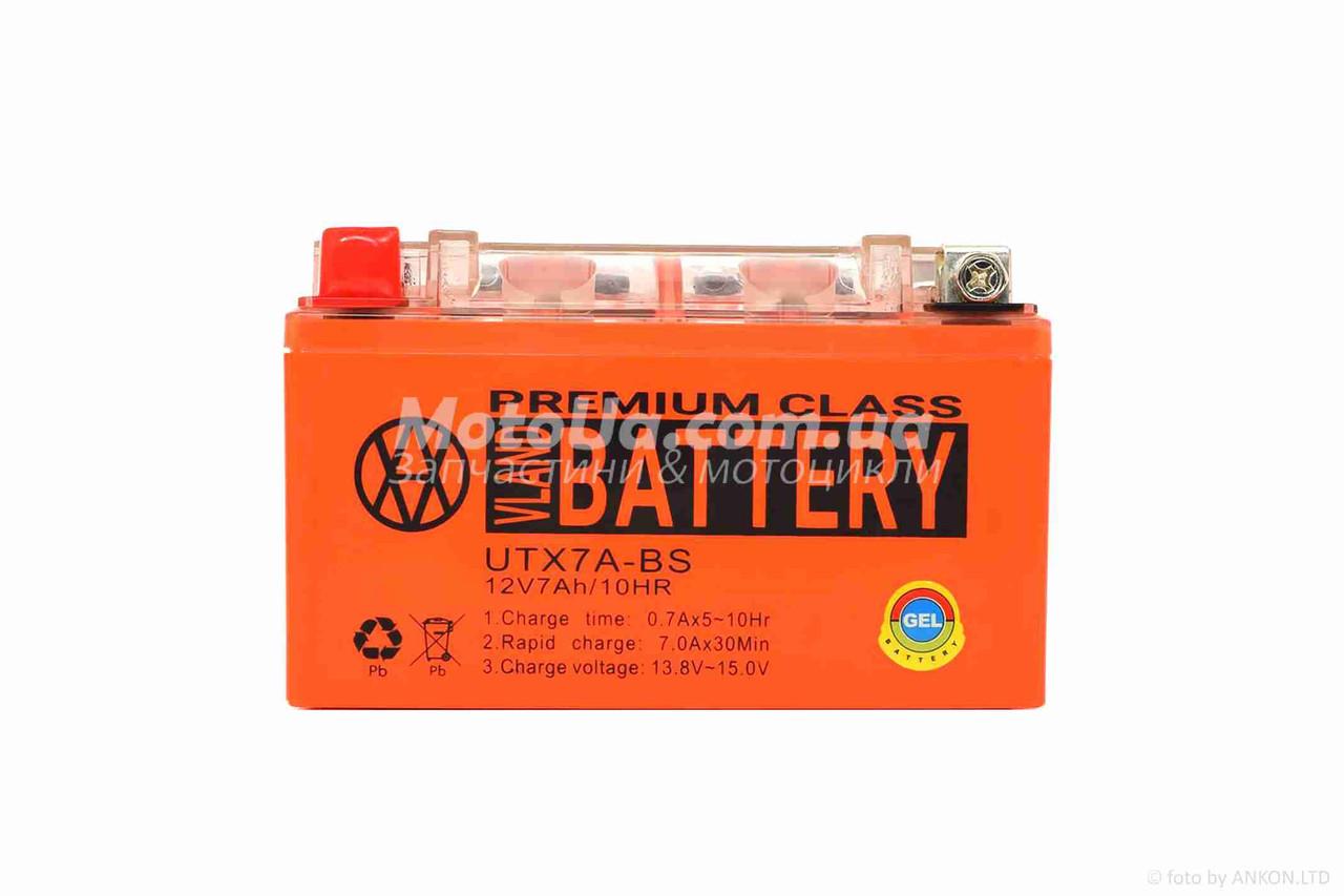 Аккумулятор 7A 12V (YTX7A-BS) VLAND гелевий 150x87x94