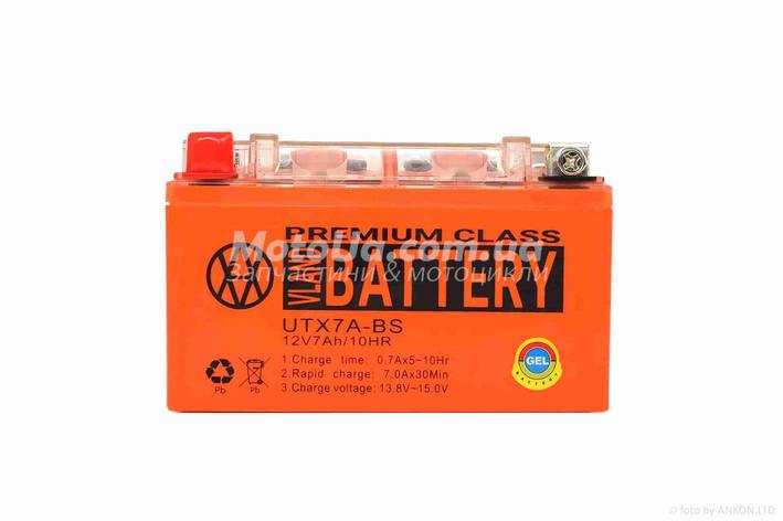 Аккумулятор 7A 12V (YTX7A-BS) VLAND гелевий 150x87x94, фото 2