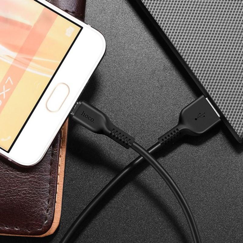 Кабель HOCO micro USB - 1 метр, 2.4А - качество!!!