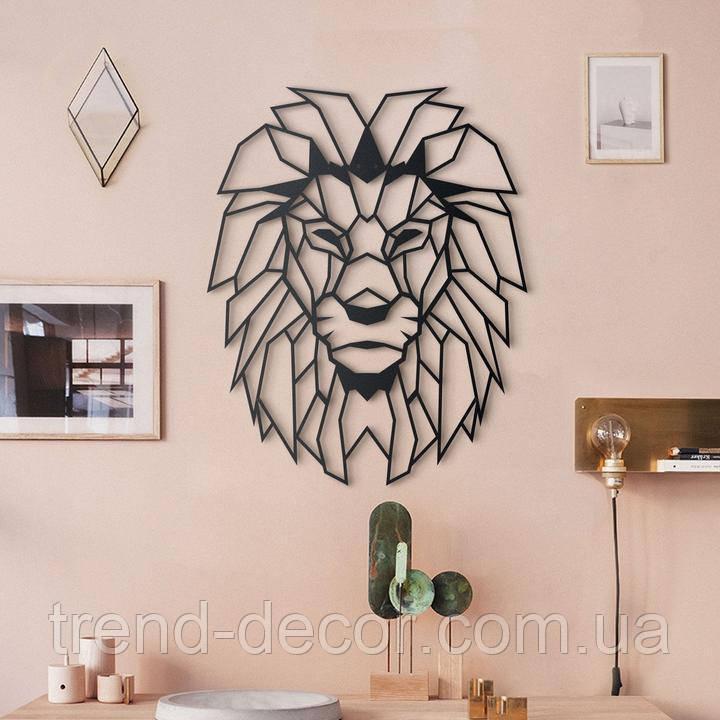 Декоративне металеве панно Лев