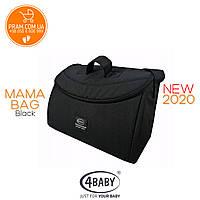 4BABY MAMA BAG 2019 сумка для коляски Black Черный