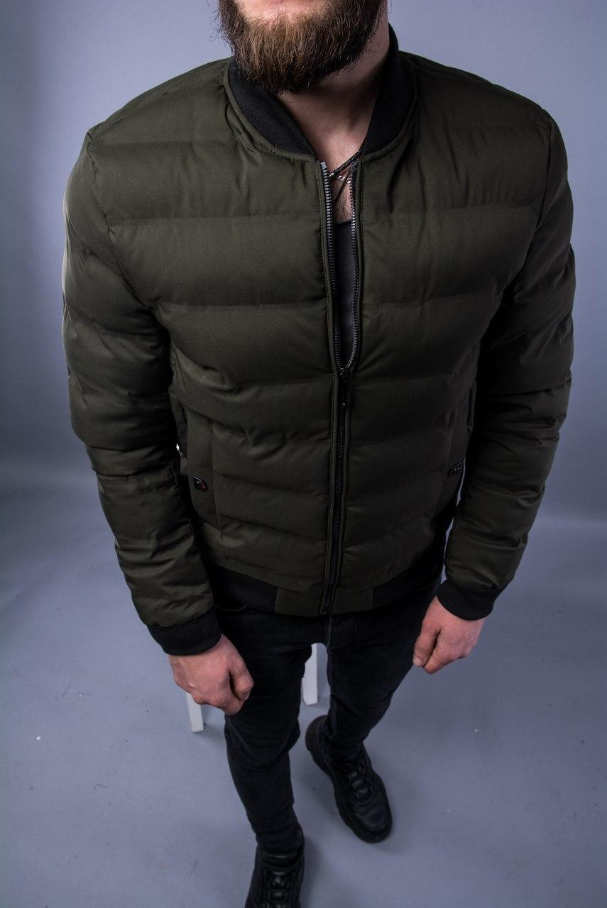 Чоловічий Бомбер 8803B Green