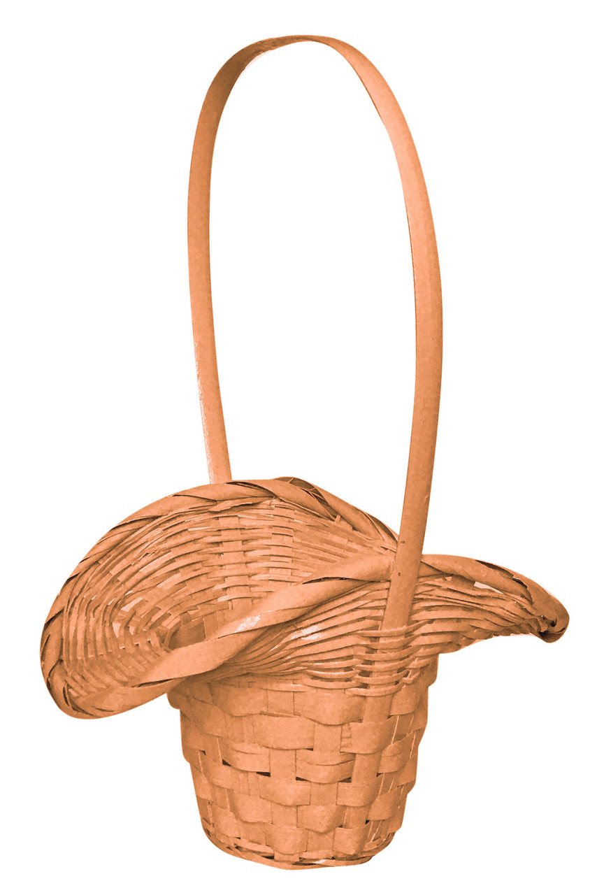 Корзина из лозы персиковая(32 х19,5 см )