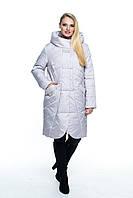 Женская, модная, удлиненная, весенняя куртка - полу пальто,больших размеров р- 44,46, 48, 50, 52, 54, 56