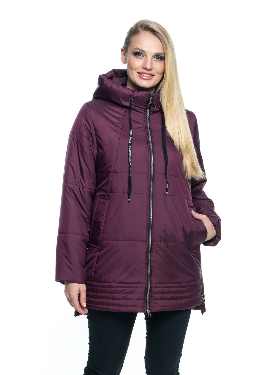Женская демисезонная  куртка больших размеров 50-66 марсал