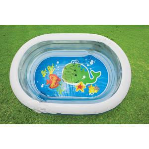 Бассейн надувной прозрачный детский Intex 57482