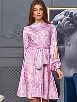 Женское платье с прорезями в рукавах (Глорияjd)
