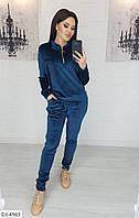 Женский велюровый костюм (синий,бордо,черный,морская волна)