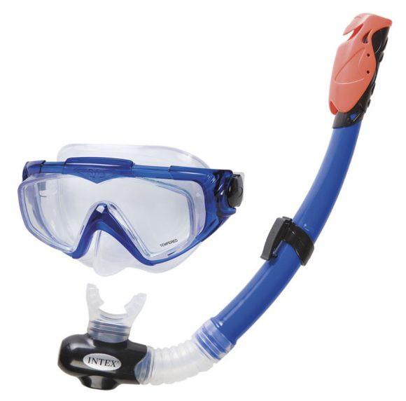 Маска и трубка для плавания Silicone Aqua Pro Swim Set Intex 55962