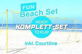 Набор для пляжного волейбола  FUNTEC Beach set (Стойки + сетка + линии)