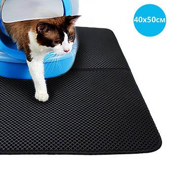 Водонепроницаемый коврик для кошачьего туалета 40х50см CLM01 Black