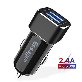 Автомобильный адаптер ESSAGER для зарядки  на 2 USB 2.4A