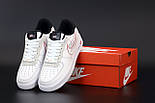 Женские кроссовки Nike Air Force 1 low white black 36-45рр. Живое фото. Реплика, фото 5