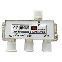 Делитель ТВ сигнала с проходом питания (3 Way Splitter PowerPass)