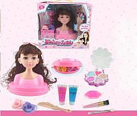 Голова-манекен куклы для причесок и макияжа с аксессуарами