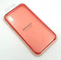 Чехол iPhone XR Silicon Case Clear Red