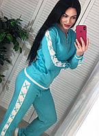 Женский вязаный спортивный костюм 42-46